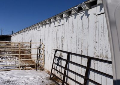 Stalls at the fairgrounds in Wheatland,  Wyoming.  We put plastic up on the windy side to try and keep horses warmer in the -6 degree weather.